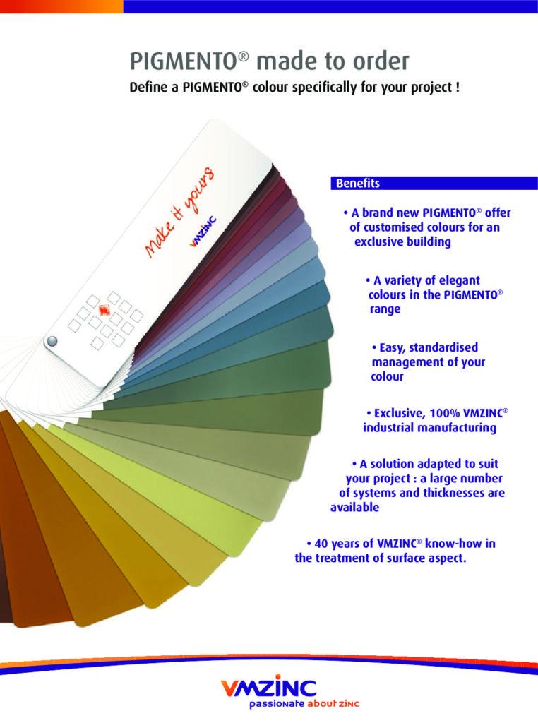 PIGMENTO Coloured Zinc